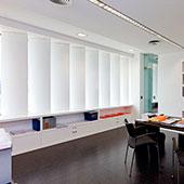 Interior del estudio de arquitectura