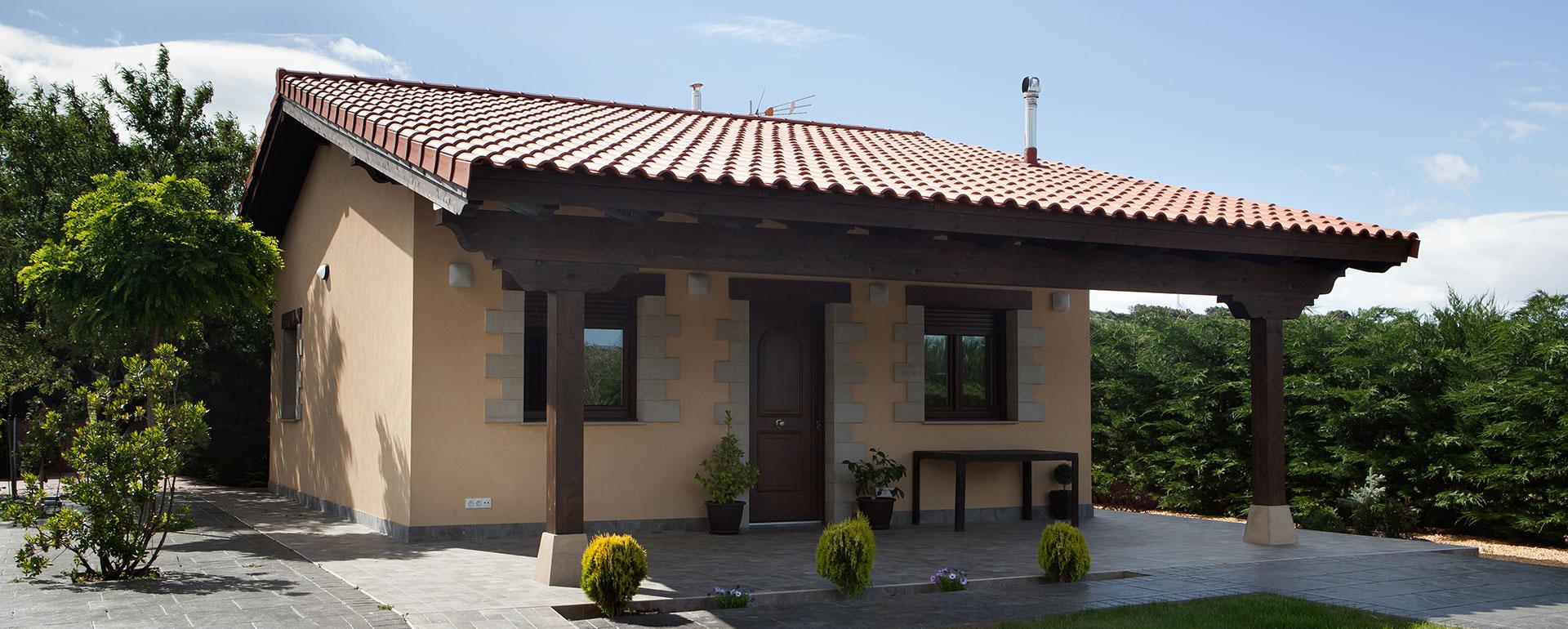 Parte exterior de una casa de recreo en Nalda