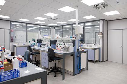 Instalaciones de trabajo del laboratorio